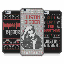OFFICIAL JUSTIN BIEBER KNITTED CHRISTMAS HARD BACK CASE FOR APPLE iPHONE PHONES