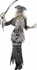 Smiffys Ghost Ship Ghoulina Womens Halloween Fancy Dress Costume Pirate Grey