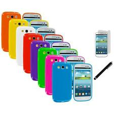 TPU Jelly Solid Cover Case+LCD Film+Stylus for Samsung Galaxy S III S3 i9300