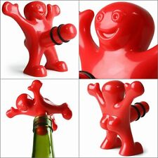 New Bar Red Happy Man Soda Wine Beer Bottle Novelty Opener Stopper Corkscrew