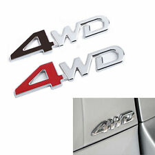 3D 4WD Logo Chrome Sticker Metal Emblem Badge Car SUV Racing Body/Fender/Trunk