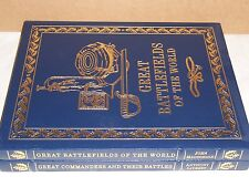 Easton Press GREAT COMMANDERS and their Battles & BATTLEFIELDS of the World
