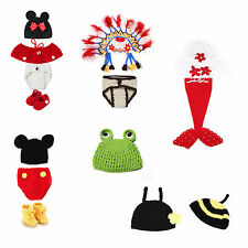 Newborn Baby Knit Clothes Photo Crochet Costume Photography Prop Christmas gift
