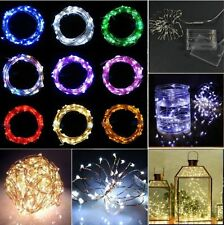 2/3/4M 20/30/40LEDs Battery Operated Mini LED Copper Wire String Fairy Lights