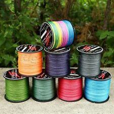 300/500/1000M 8 Strands Premium Quality PE Braided Dyneema Fishing Line 12-160LB