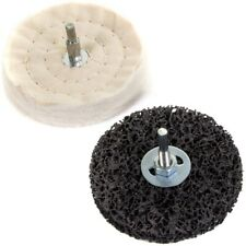 POLISHING CLOTH WHEEL Or RUST/PAINT REMOVER 100mm Rotary Stripping/Buffing Discs