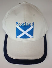 SCOTLAND Saltire National Flag - Cotton Baseball Cap in Navy or Stone colours