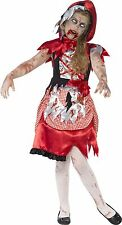 Smiffys Red Zombie Miss Hood Girls Childrens Fancy Dress Costume Halloween