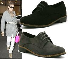 WOMENS BLACK GREY DESERT LACE UP PIXIE FAUX SUEDE CASUAL FASHION ANKLE BOOTS SHO