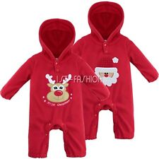 Infant Baby Boy Girls Santa Claus Costumes Christmas Jumpsuit Romper Outfits Set