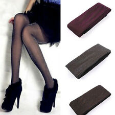 Winter Fleece Lined Tights Pantyhose Black Warm Soft Comfortable Opaque W Foots