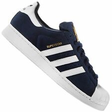 ADIDAS ORIGINALS SUPERSTAR SUEDE S75142 TRAINERS SHOES SUEDE NAVY BLUE WHITE