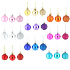 Holiday Christmas Party Plastic Pendant Tree Ornament Ball 4cm Dia 24 Pcs