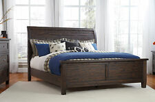 Ashley Bedroom Trudell Brown Sleigh HB Queen King Bed Panel FB Rails Bedframe