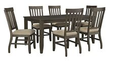 Ashley Dining Table & Chair 7pc Dining Room Curved Back Legs Home Furniture Set
