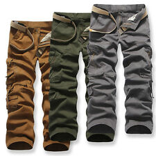 New Mens Cottom Cargo Combat Work Pants Army Military Camouflage Camo Trousers
