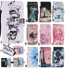 For Mobile Phones Lanyard Flip Stand Card Wallet Leather+TPU Hybrid Case Cover