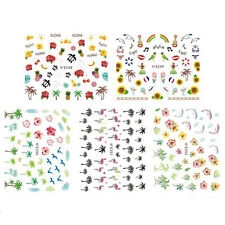 1 Sheet Nail Art Water Transfers Stickers Decals Flamingo Design Decoration QW