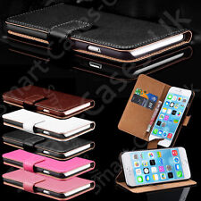 Genuine Real Leather Wallet Flip Case Cover for New Apple iPhone 7 6 6s 7 Plus