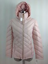 Calvin Klein NWT Dusty Pink Hooded  DOWN Lightweight Packable Down Jacket, S