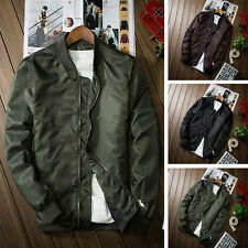 Fashion New Men's Autumn Slim Bomber Jacket Baseball Coat Thin Coat Jackets Tops