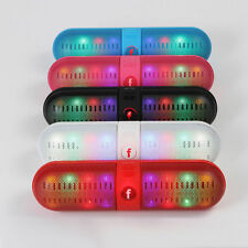 LED FM Portable Bluetooth Wireless Stereo Speaker for Smartphone Tablet Colors