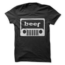Jeep Beer - Funny T-Shirt Short Sleeve 100% Cotton Flip Car Alcohol Humor Joke