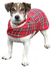 Dog coats available in Black Watch and Royal Stewart Tartans, Large Med & Small