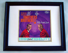 SMOTHERS BROTHERS Autographed CUSTOM FRAMED Signed Album LP AFTAL