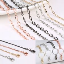 New 4 Styles Chain For Floating Charm Glass Memory Locket Link Necklace Pendant