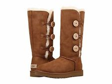 Women's Shoes UGG Bailey Button Triplet II Boots 1016227 Chestnut *New For 2016*