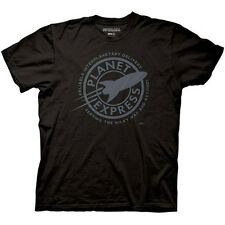 Futurama Planet Express Delivery Logo Licensed Adult T-Shirt - Black