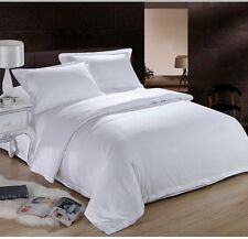 WHITE SOLID BED SHEET SET 800 TC 100% EGYPTIAN COTTON SELECT YOUR SIZE