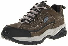 Skechers SOFT STRIDE Mens Charcoal STEEL TOE Slip Resistant Work Shoes