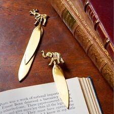 Elephant or Stag brass bookmark - Nkuku - Fairtrade - Stationary Gift