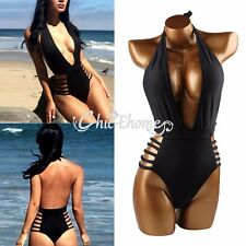 Sexy Women One Piece Monokini Swimwear Push Up Padded Bikini Swimsuit Bathing