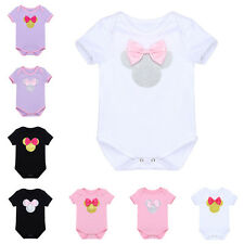 Newborn Infant Baby Romper Jumpsuit Boy Girl Minnie Bow Outfit Costume Bodysuits