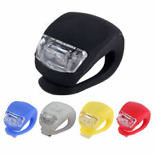LED Bicycle Bike Cycling Silicone Head Front Rear Wheel Safety Light Lamp BE