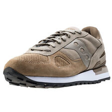 Saucony Shadow O Suede Mens Trainers Beige Brown New Shoes