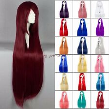 Lady Full Hair Wig Long Curly Straight Cosplay Party Fancy Dress Fashion Women E