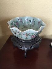 Antique Chinese Export Porcelain Canton Famille Rose Bowl