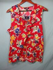 NWT Chaps by Ralph Lauren Womens Red Sleeveless Floral Top