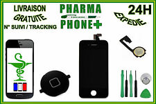 LCD DISPLAY TOUCH SCREEN DIGITIZER IPHONE 4S BLACK + HOME BUTTON + TOOLS