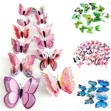 12 X 3D Butterfly Design Decal Art Wall Stickers Room Decorations Home Decor