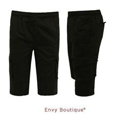 Mens Sports Shorts Summer Casual Gym Cargo Training Cropped Knee Length Pants