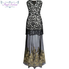 Angel-fashions Strapless Lace Embroidery See-through Lace up Evening Dress 144
