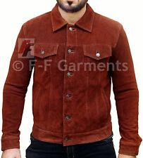X-Men 2017 Logan Wolverine Hugh Jackman Brown Real Suede Leather Jacket