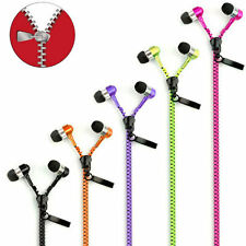 Fashion Stereo 3.5mm in-Ear Earphone Earbuds Headphone with Mic Zipper Headset J