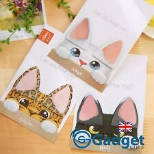 Cute Cat Ear Kawaii Memo Reminder Note Stickers Page Markers - Free UK Post