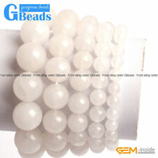 Handmade White Jade Beaded Stretchy Bracelet Fashion Jewelry Free Shipping 7.5""